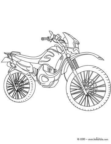 Uma motocross para  imprimir e colorir