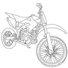 Desenho de uma moto de cross country para colorir