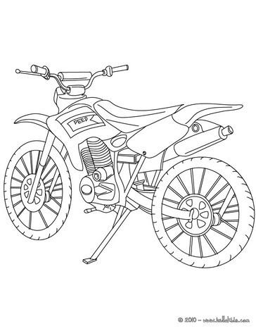 Desenho de uma motocross para colorir