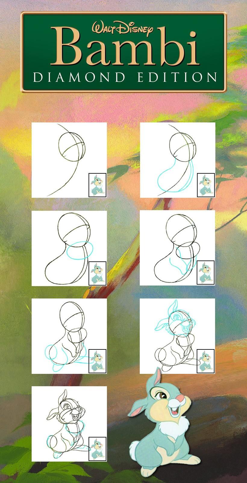 Como desenhar o coelhinho TAMBOR