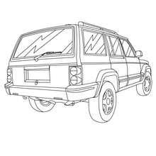 Desenho de um carro familiar para colorir