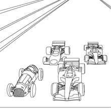 O campeonato mundial de Fórmula 1 para colorir