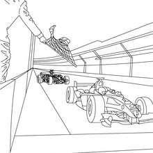 Desenho do fim da corrida de Fórmula 1  para colorir