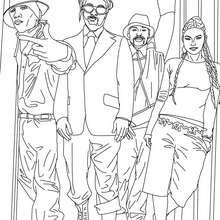 Desenho para colorir do famoso grupo  Black Eyed Peas