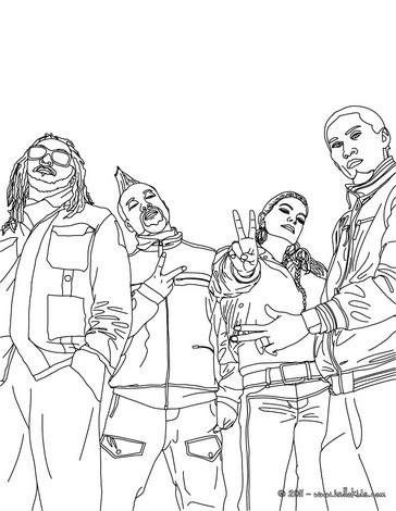 Desenho para colorir do grupo de hip hop Black Eyed Peas