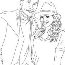 Fergie com o Taboo para colorir na internet