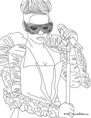 Desenho da Rihanna para colorir