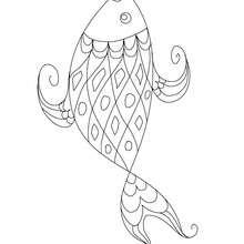 Desenho de um peixe engraçado para colorir