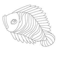 Desenho de um peixe triste para colorir