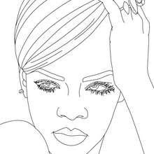 Livro de Desenhos da Rihanna para colorir