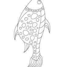 Desenho de um peixe fofo para colorir