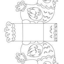 Caixa com uma galinha da páscoa para colorir, imprimir e recortar