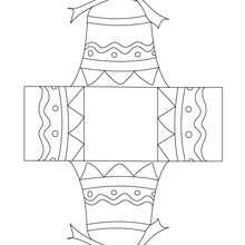 Caixa de decoração de páscoa para colorir, imprimir e recortar