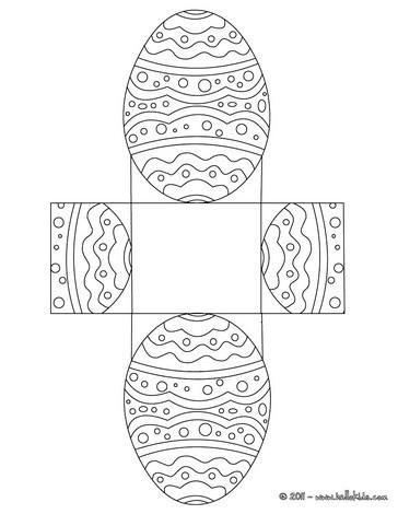 Caixa de ovo de páscoa para  imprimir, colorir e recortar