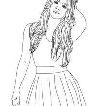 Desenho da Shakira para colorir