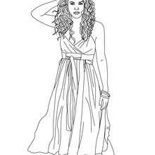 Desenho da atraente Shakira para colorir