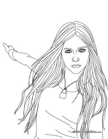 Desenhos Para Colorir De Desenho Da Bela Avril Lavigne