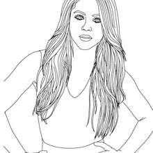 Desenho da linda Shakira para colorir