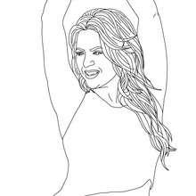 Desenho da dançarina Shakira para colorir