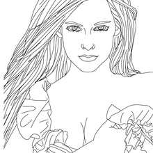 Desenho da linda Avril Lavigne para colorir