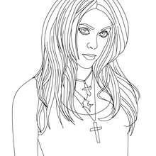 Desenho da cantora colombiana Shakira para colorir