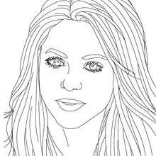 Desenho da compositora Shakira para colorir