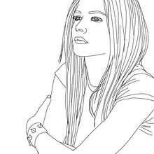 Desenho da Avril Lavigne para colorir