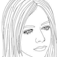 Desenho para colorir da Avril Lavigne