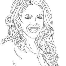 Desenho da Shakira para colorir online
