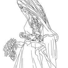 princesa, Desenho da noiva Kate Middleton para colorir