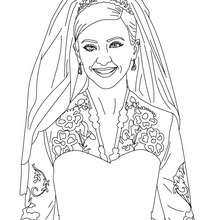 princesa, Desenho da Kate Middleton para colorir
