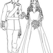 Desenho do Casamento Real para colorir
