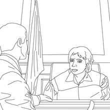 Desenho de um advogado e um juiz para colorir