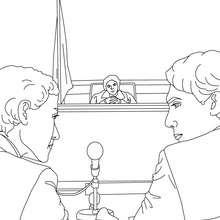 Desenho de um julgamento para colorir