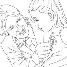 Desenhos Para Colorir De Desenho De Uma Crianca No Medico Para