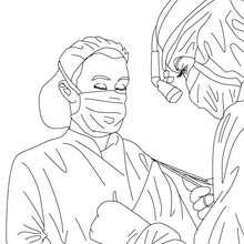 Desenho de um cirurgião para colorir