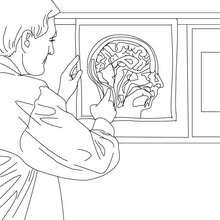 Desenho de um Radiologista para colorir