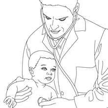 Desenho de um Pediatra para colorir