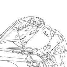 Desenho de um mecânico trabalhando para colorir