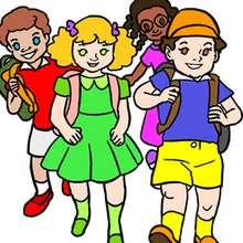 Quebra-cabeça de crianças na escola