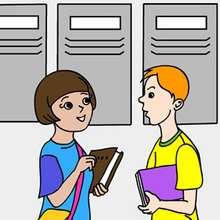 Quebra-cabeça de alunos na escola