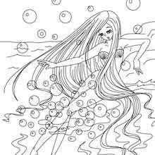 Desenho do conto da Pequena Sereia para colorir