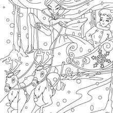 Desenho do conto da Rainha da Neve colorir