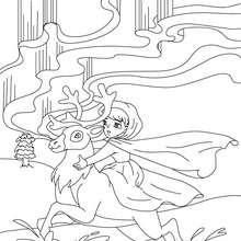 Desenho para colorir do conto A Rainha da Neve