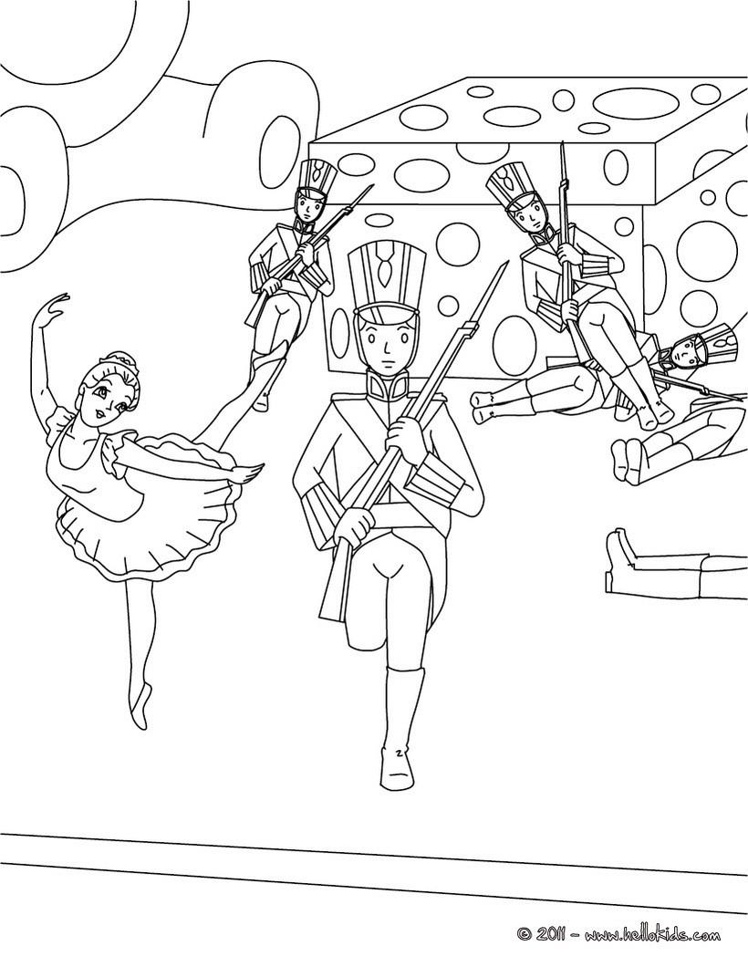 Desenho do conto O Soldadinho de Chumbo para colorir