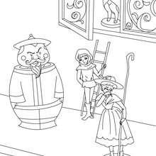 A pastora e o limpador de chaminés para colorir
