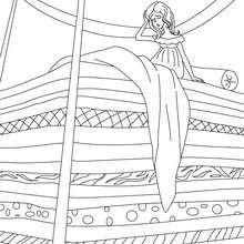 Desenho da Princesa e a Ervilha para colorir