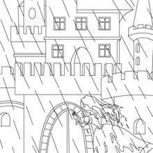 Desenho do conto da Princesa e a Ervilha para colorir