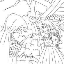 Desenho do conto da Branca de nNeve para colorir
