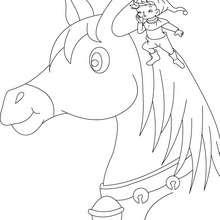 Desenho do conto O Pequeno Polegar para colorir